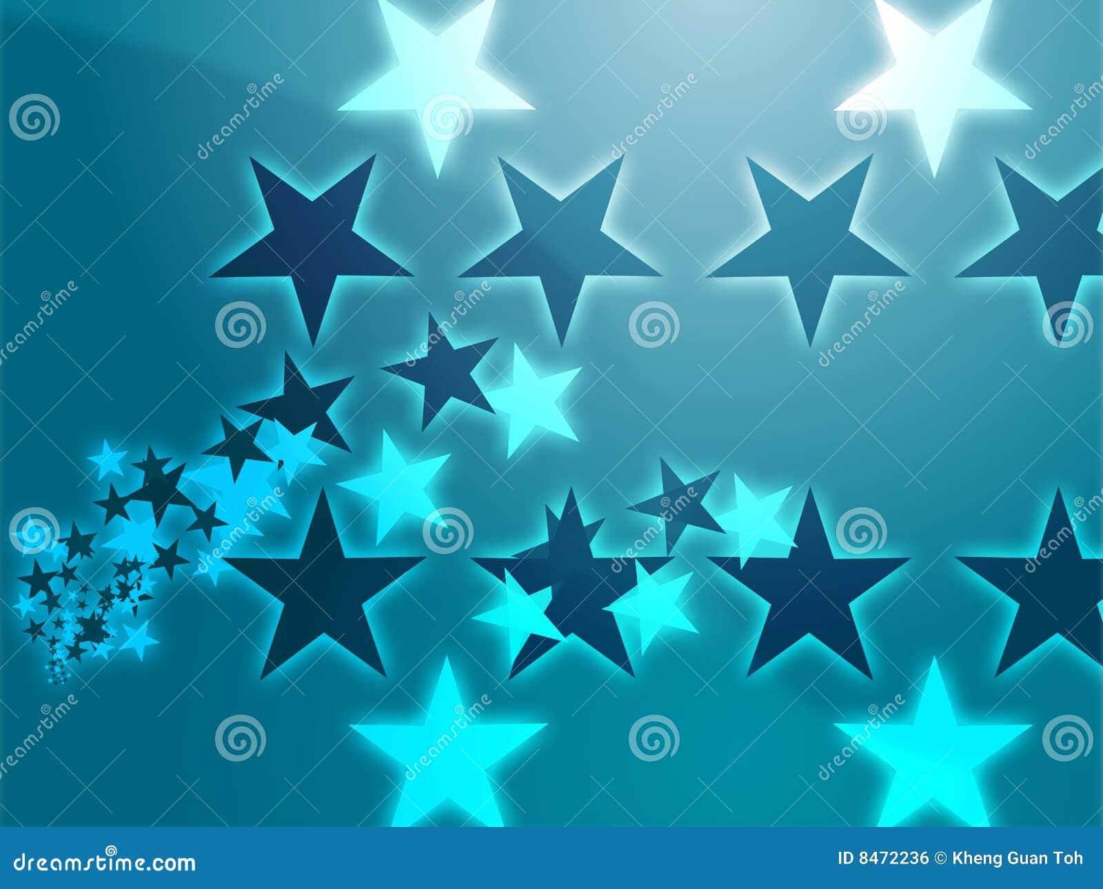 Flygillustrationstjärnor