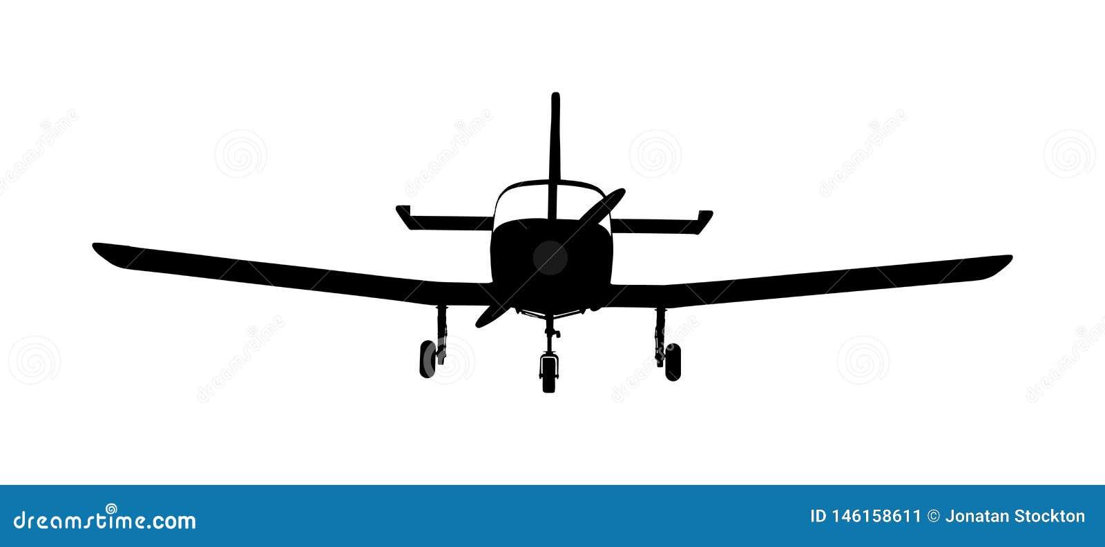 Flygplankonturvektor Mini- nivå i luftsymbol skola av flyget Kommersiellt flyg Jet Plane Flygplansymbol
