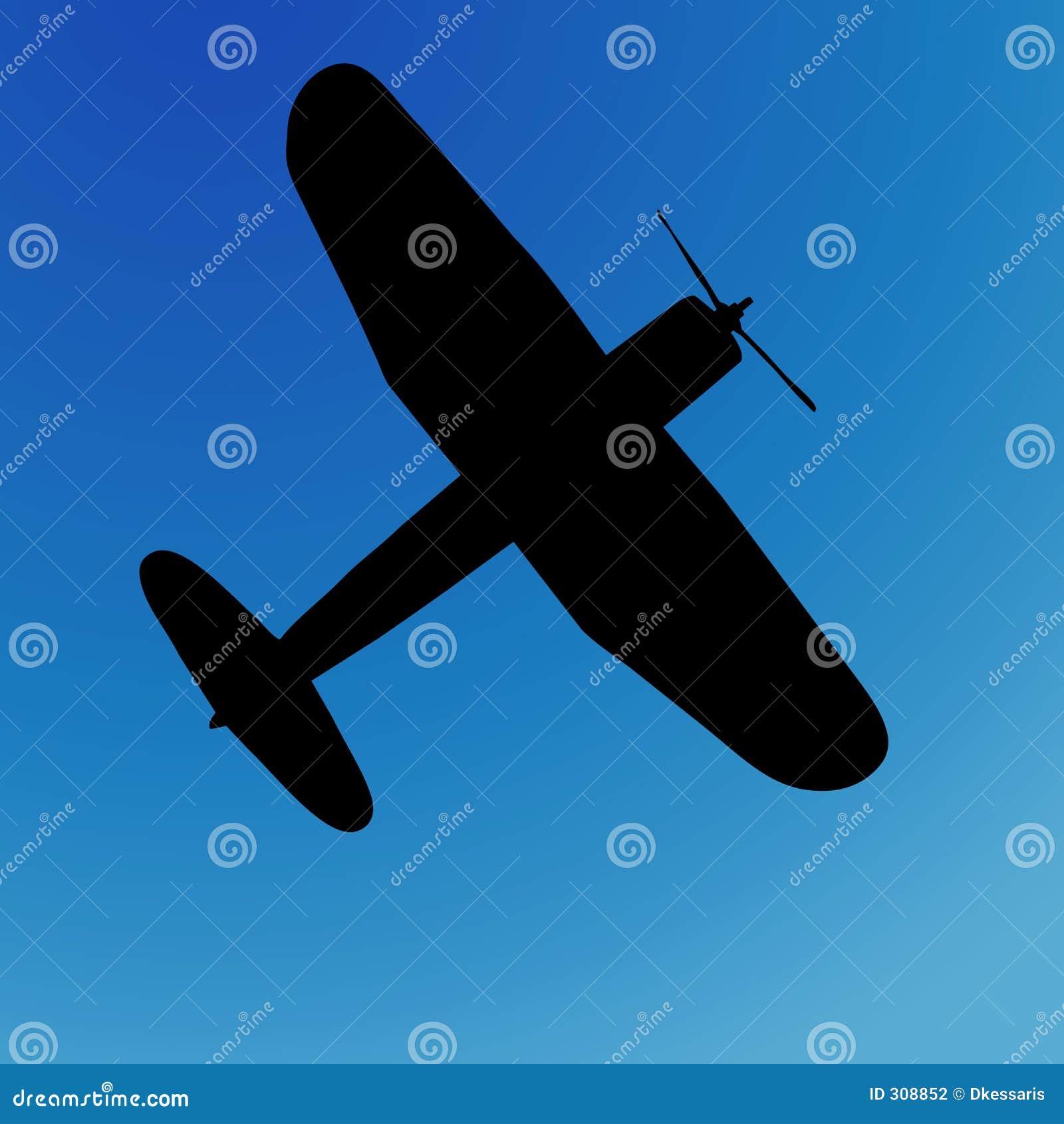 Flygplansilhouette