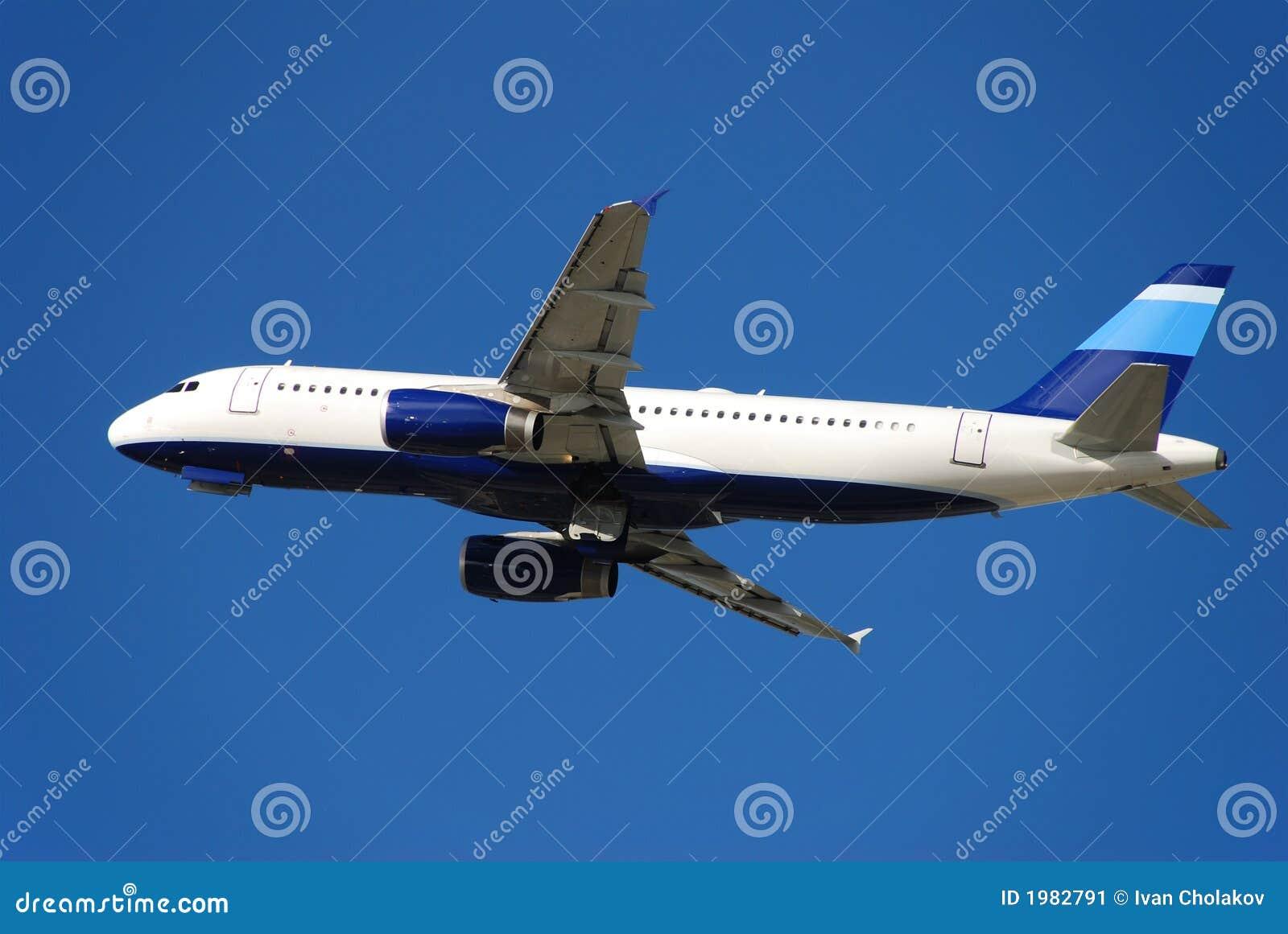 Flygplanstråle som är modern av att ta för passagerare