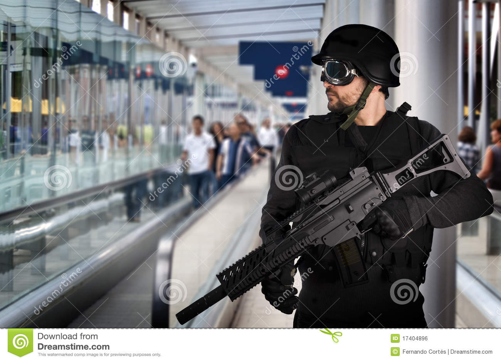 Flygplats beväpnad polissäkerhet