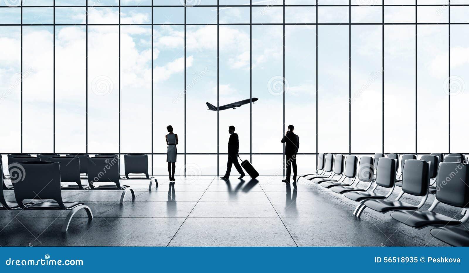Flygplats med folk