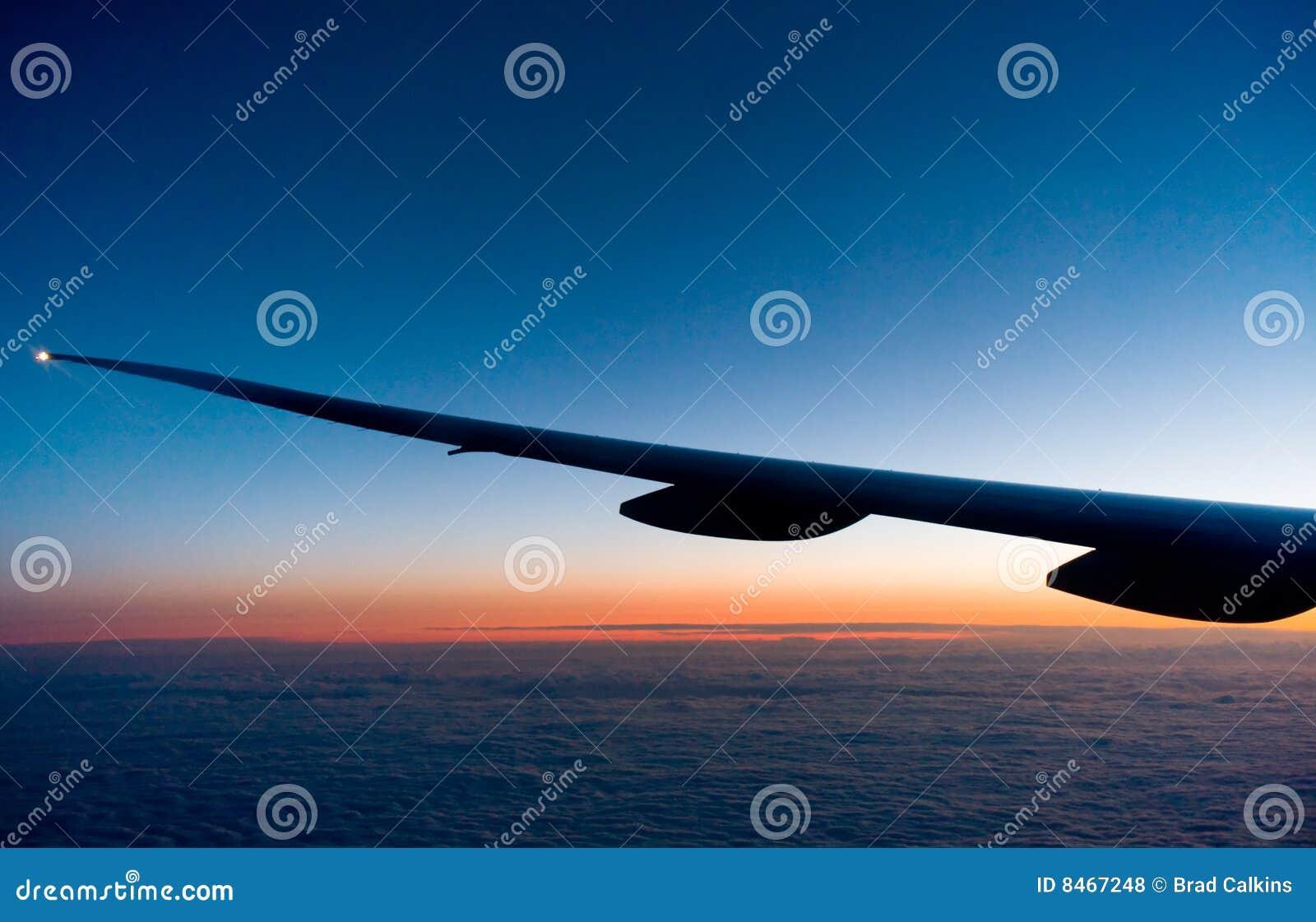 Flygsolnedgång