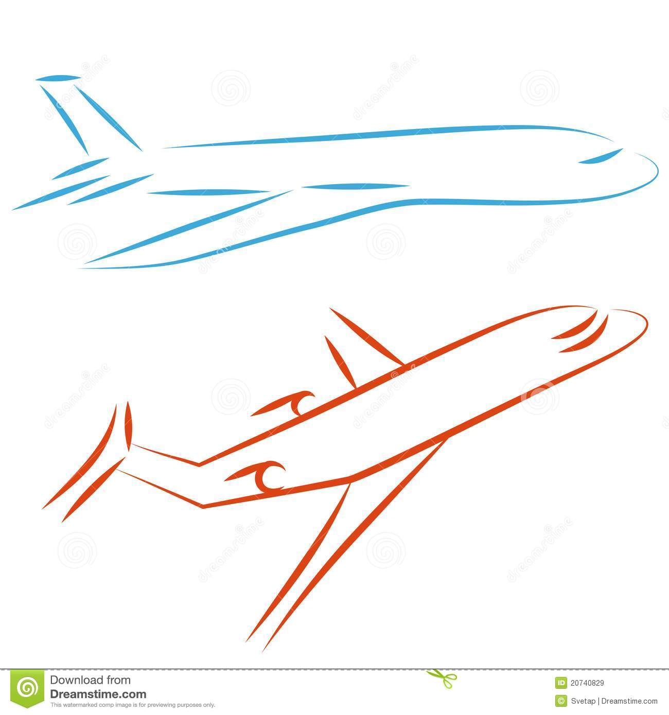 Flying Airplane Illustration Stock Vector Illustration
