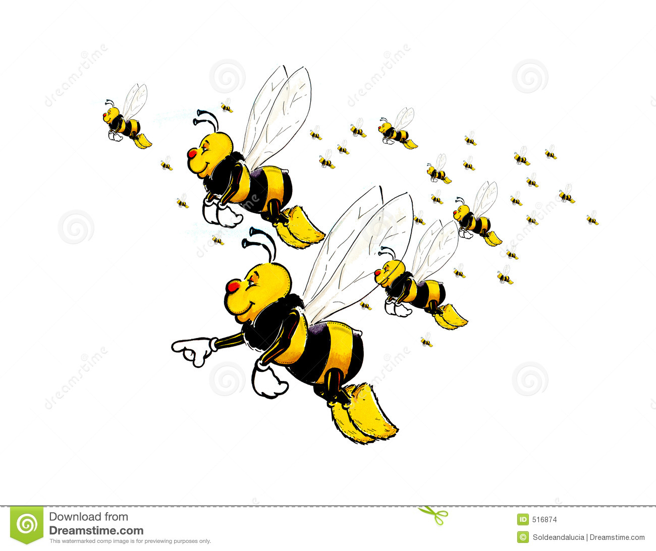 Flying Bees Stock Images - Image: 516874