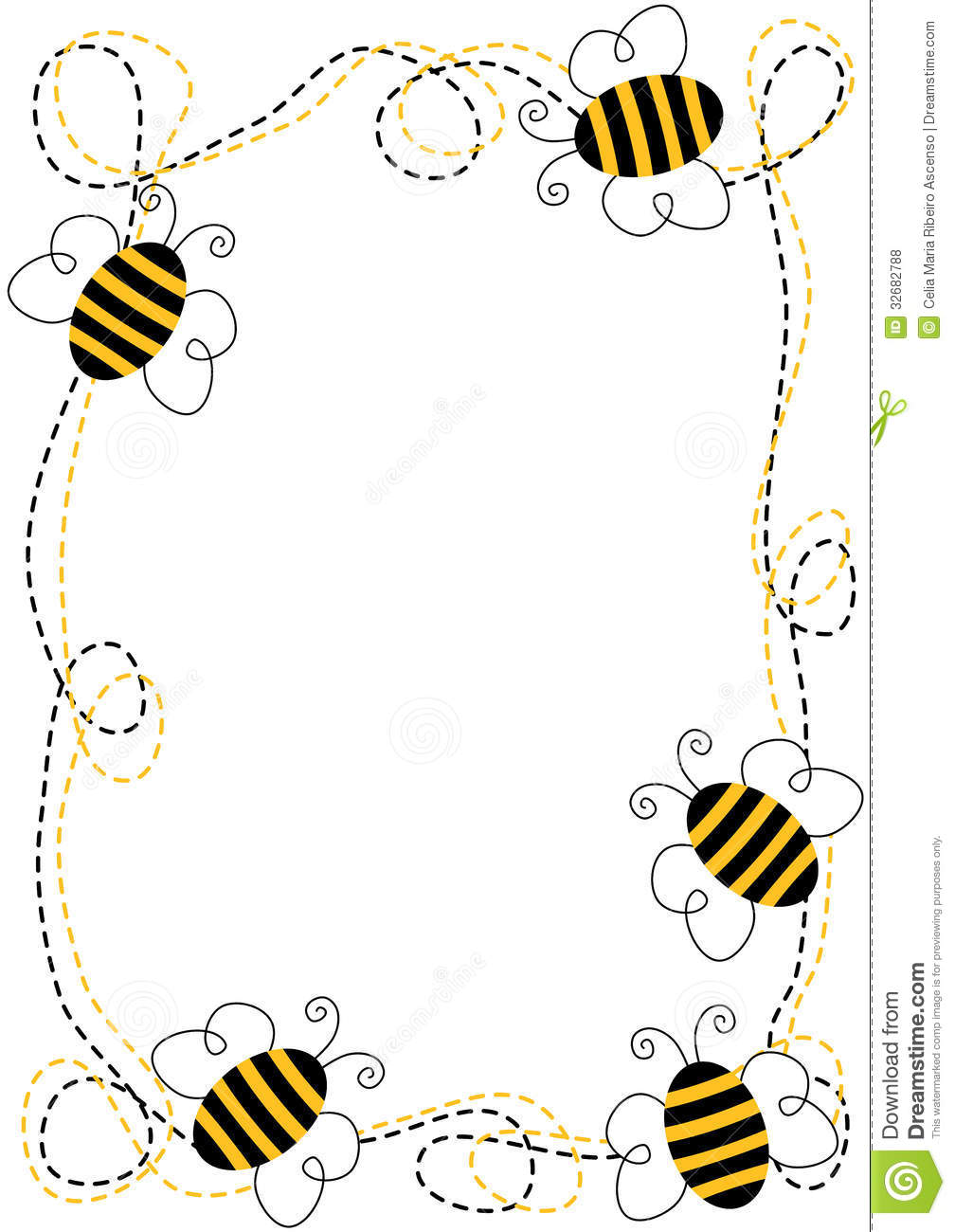 Flying Bees Frame stock illustration. Image of copy ...