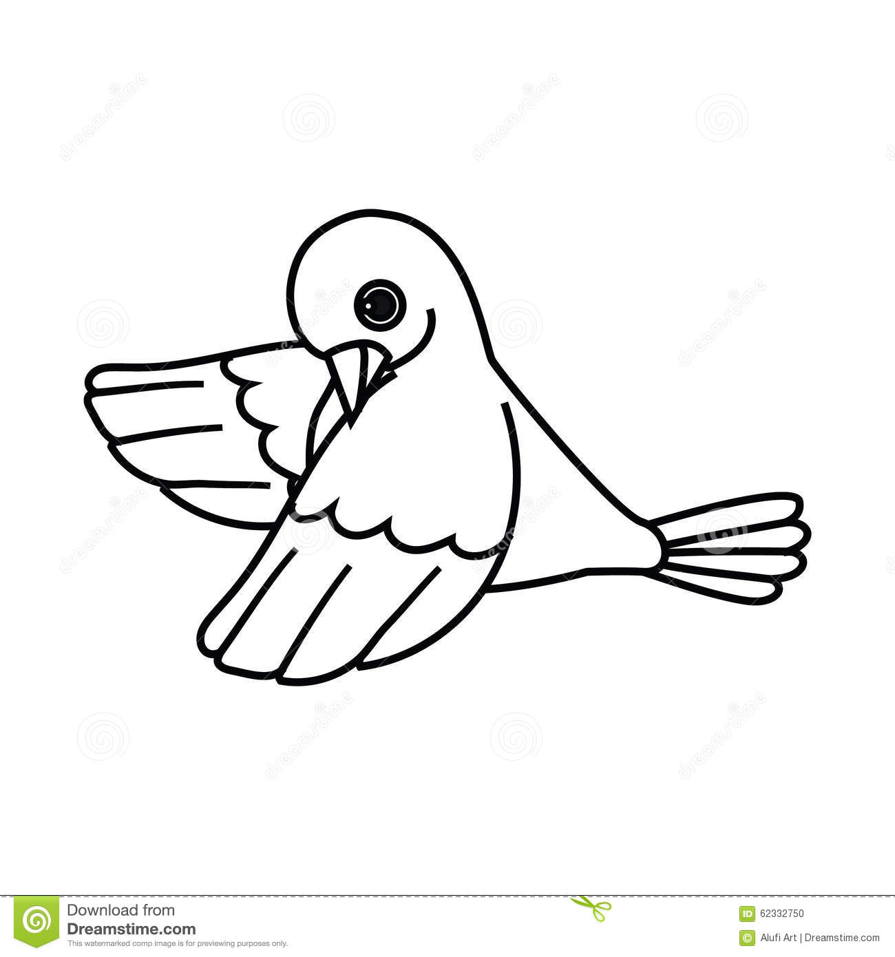 bird outline coloring page - flying bird outline cast down stock vector image 62332750
