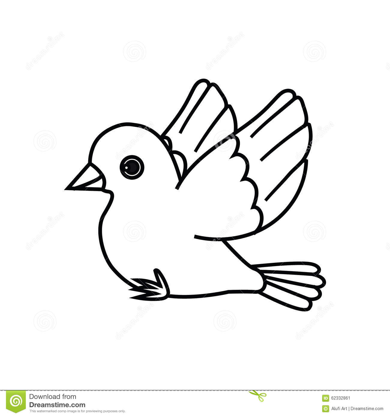 flying bird outline ready to perch stock vector image 62332861