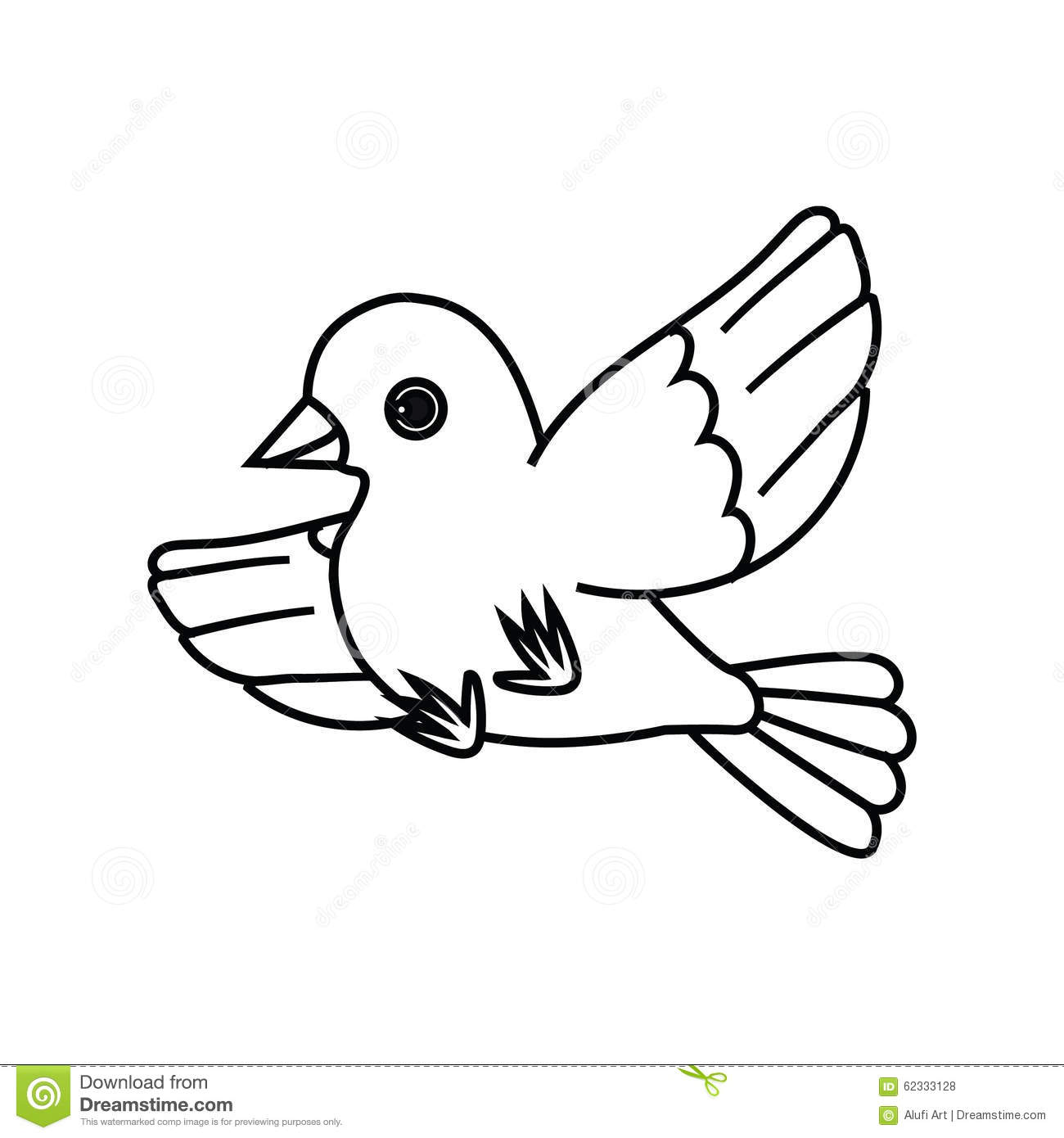 Flying Bird Outline (Take Off) 2 Stock Vector - Image ...