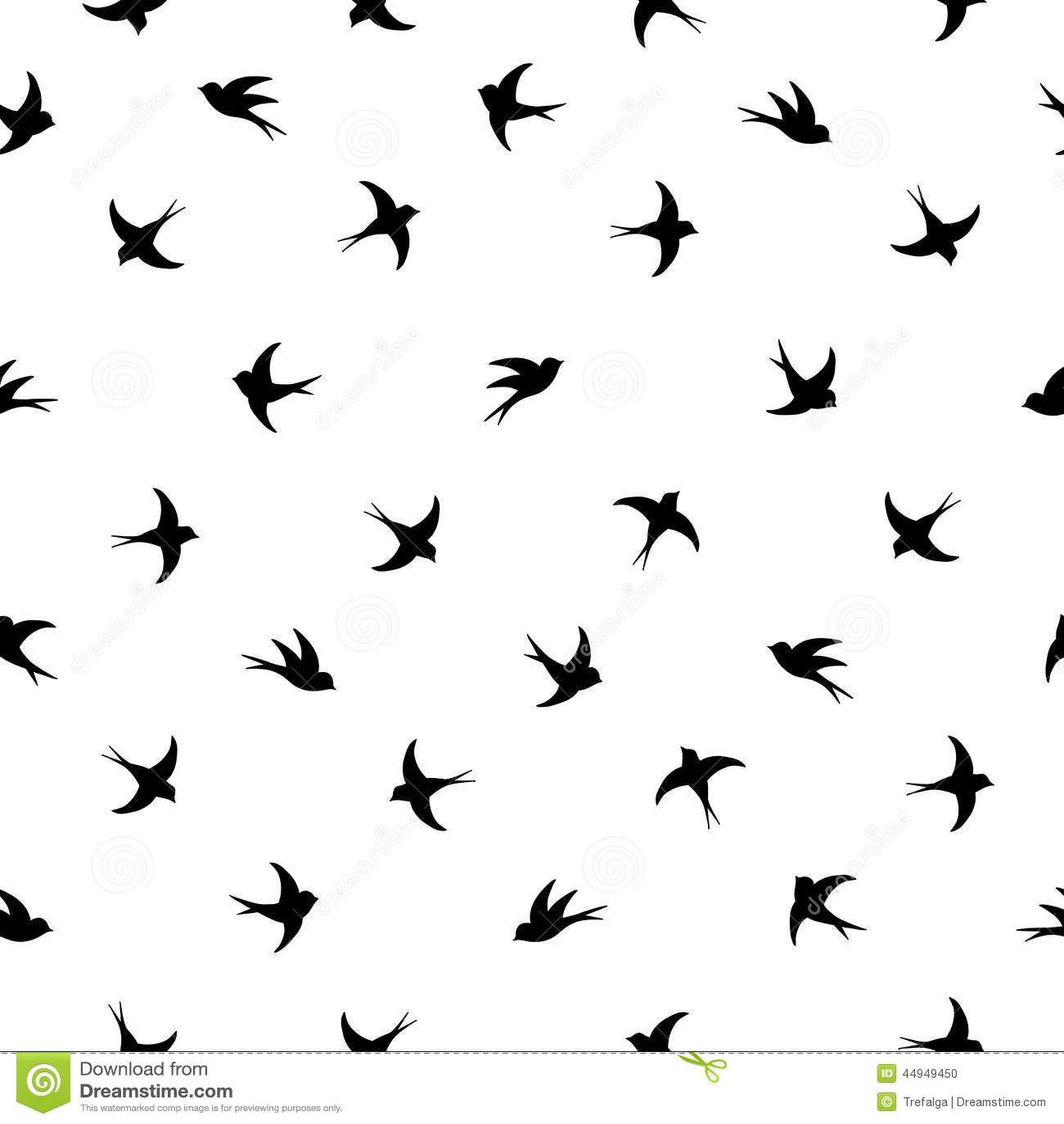 flying birds silhouette pattern stock vector illustration of