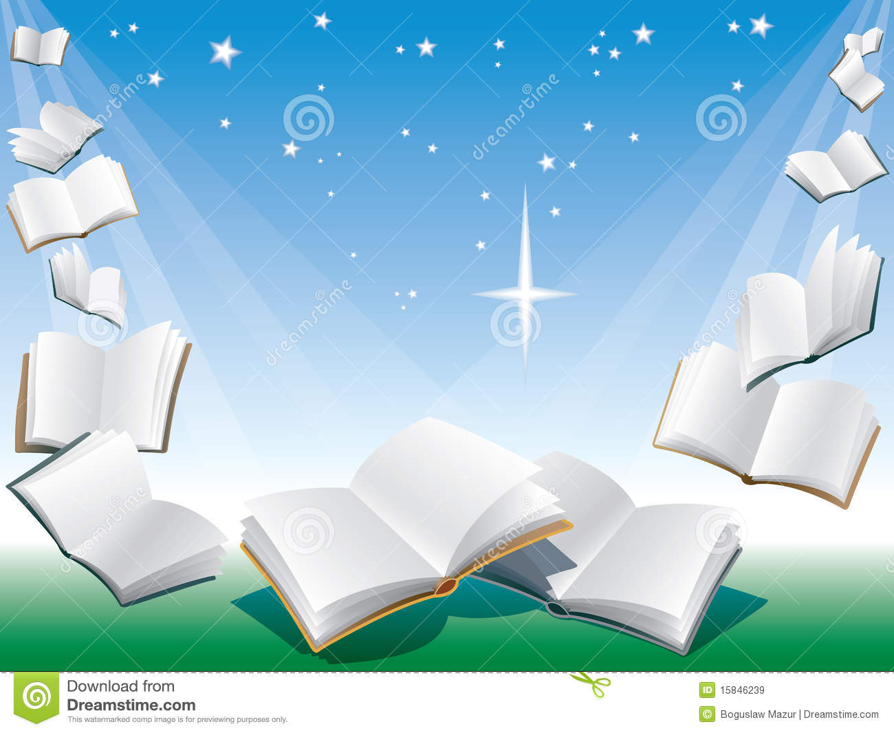 Flying Books Royalty Free Stock Images - Image: 15846239