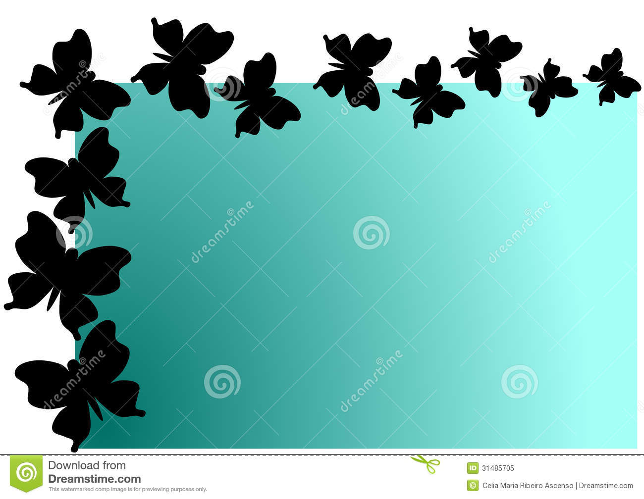 Flying Butterflies Shadow Invitation Card Royalty Free ...