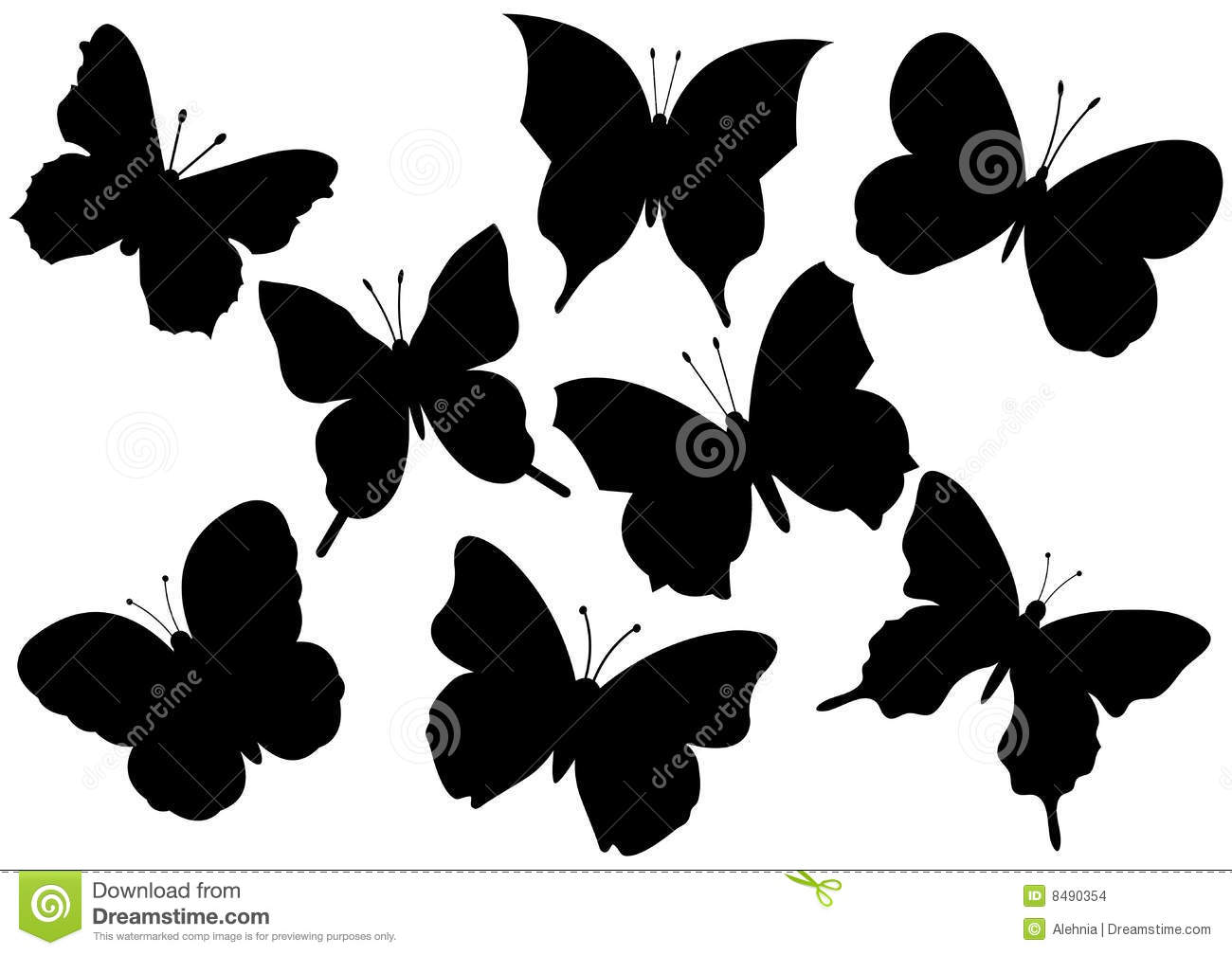 Flying Butterflies Vector Illustration Stock Images Image 8490354