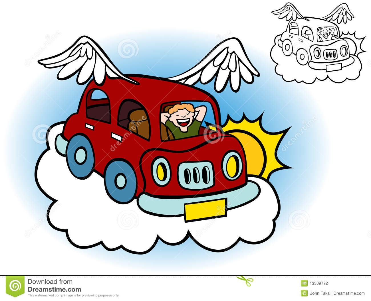 Flying Car Stock Photography - Image: 13309772