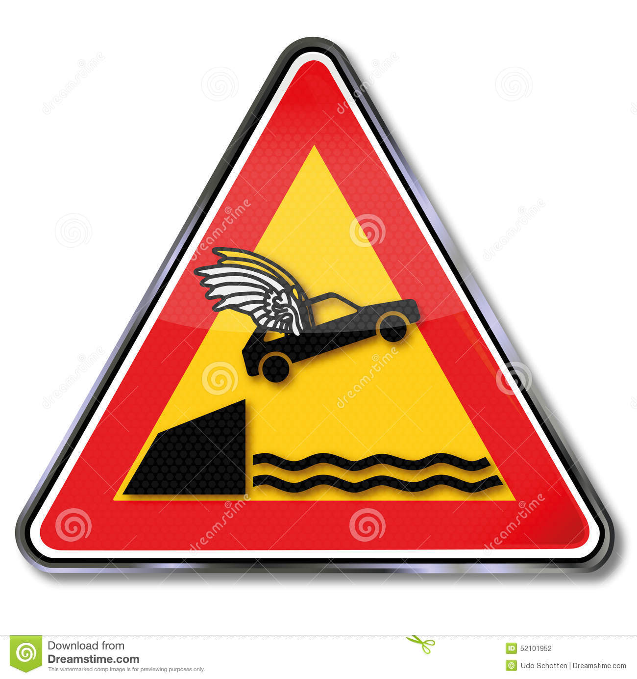 Flying Car Stock Vector. Image Of Sign, Attention