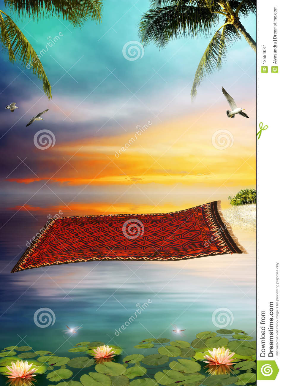 Flying Carpet Royalty Free Stock Photography Image 13554037