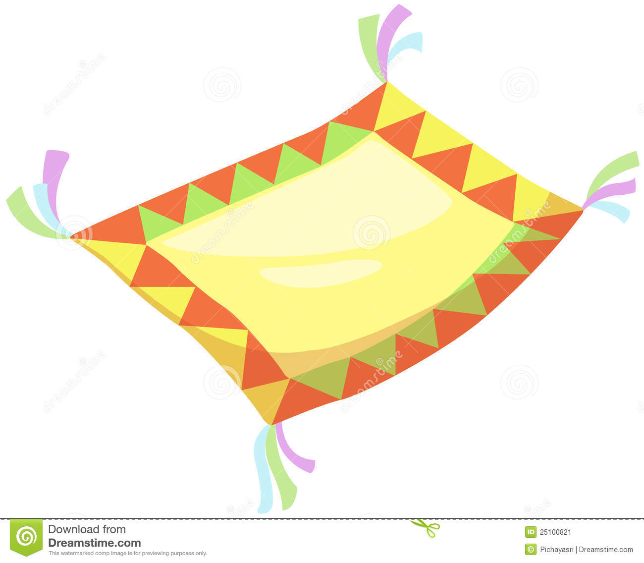 Flying Carpet Stock Vector Image Of Oriental Traditional