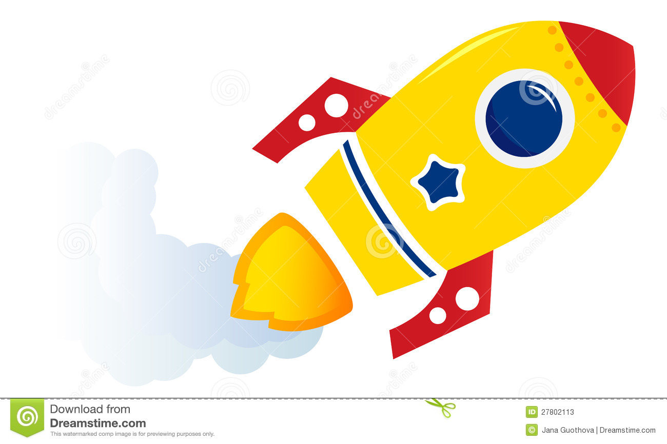 Flying cartoon yellow rocket stock photos image 27802113 for Disegno una finestra tra le stelle karaoke