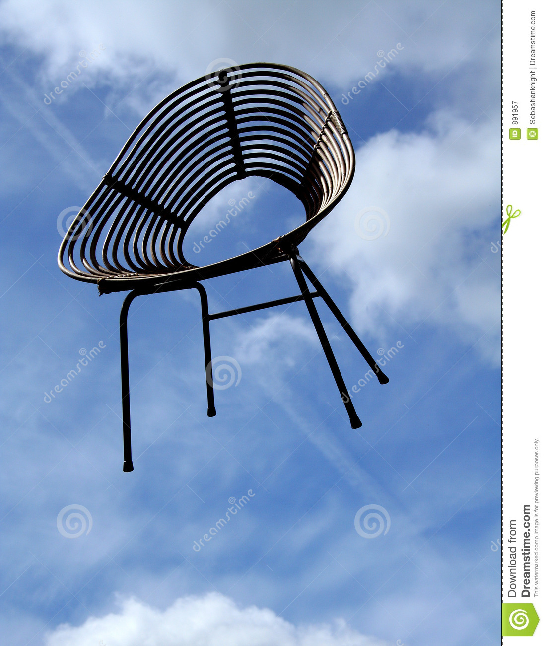 Flying Chair Royalty Free Stock Photography - Image: 891957
