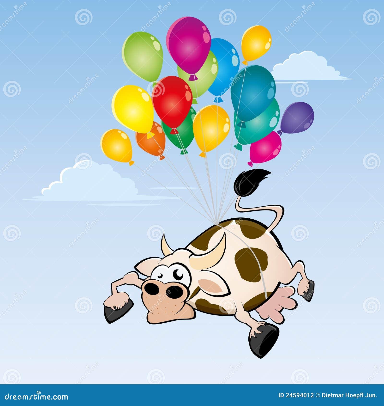Flying Cow Stock Vector Illustration Of Motif Mammal 24594012