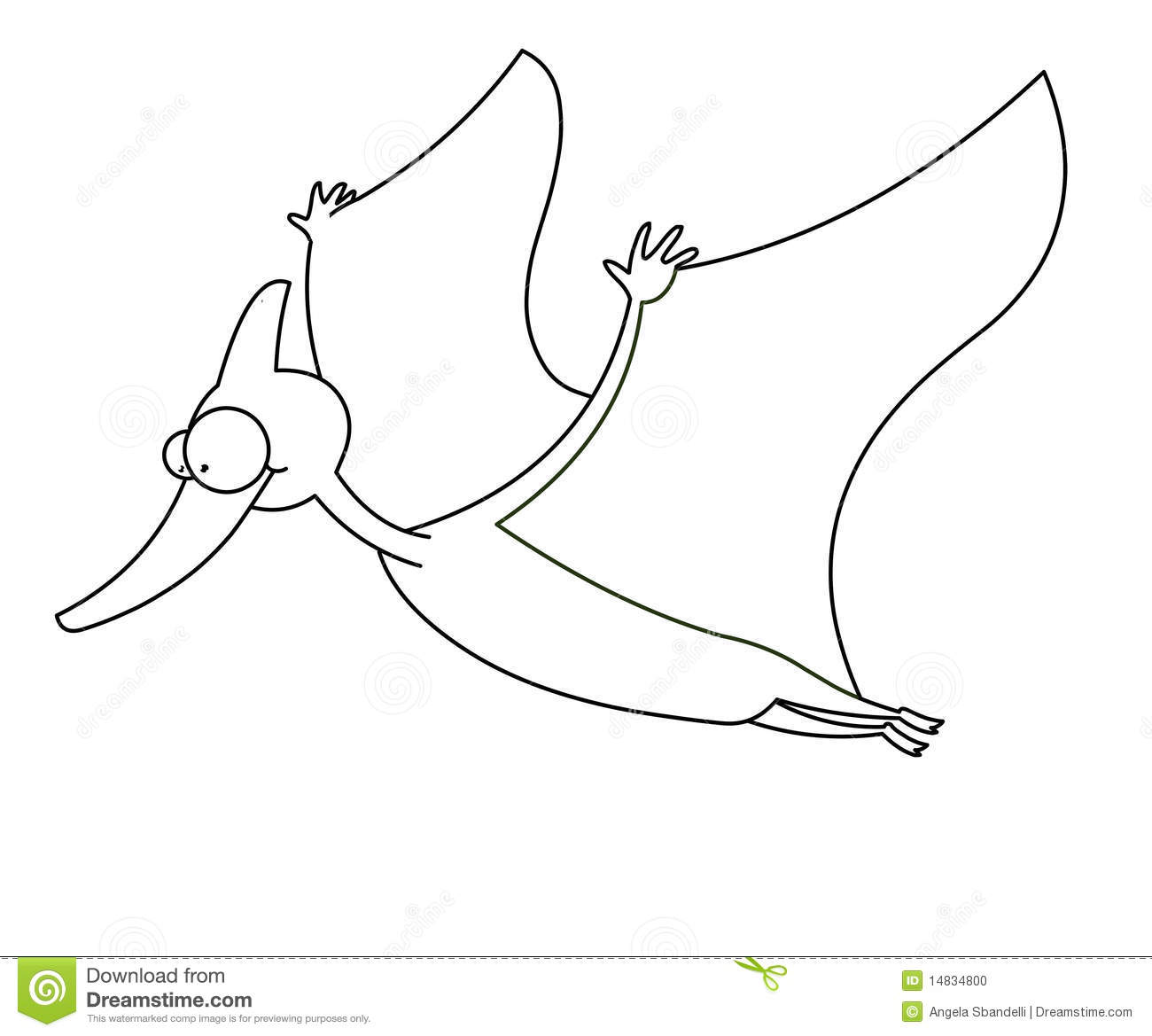 Flying Dinosaur Black And White Stock Photo - Image: 14834800