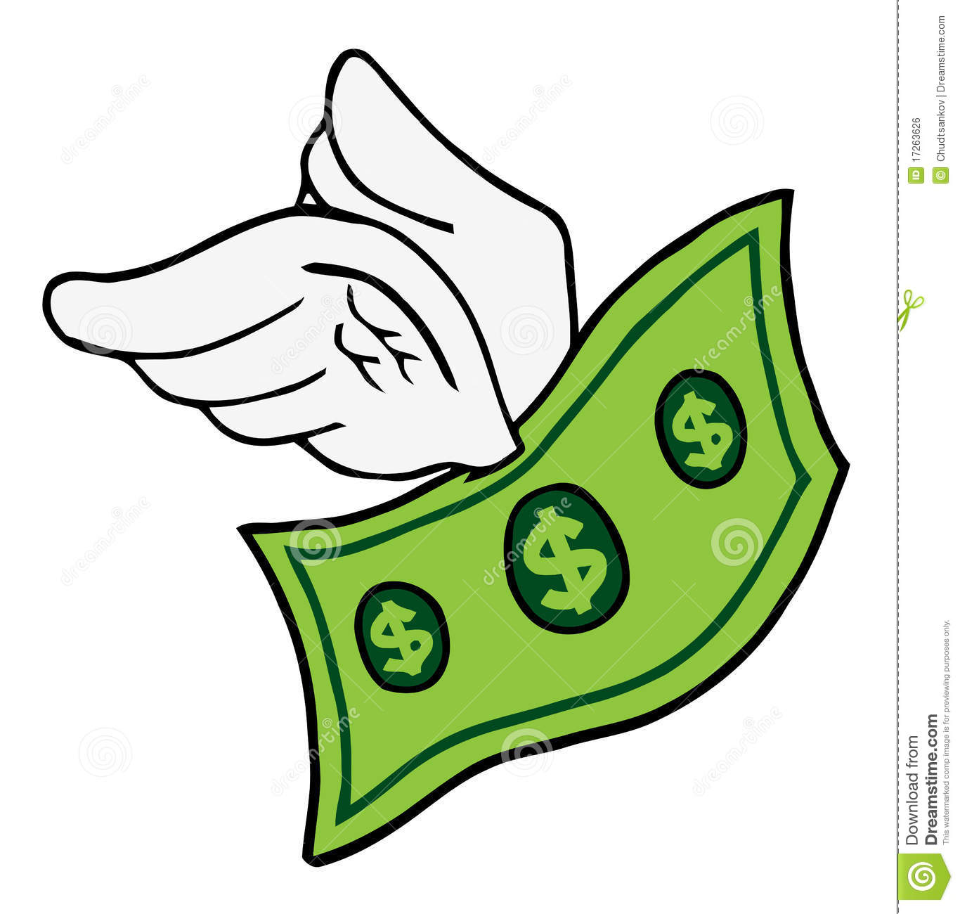 Flying Dollar Royalty Free Stock Image - Image: 17263626