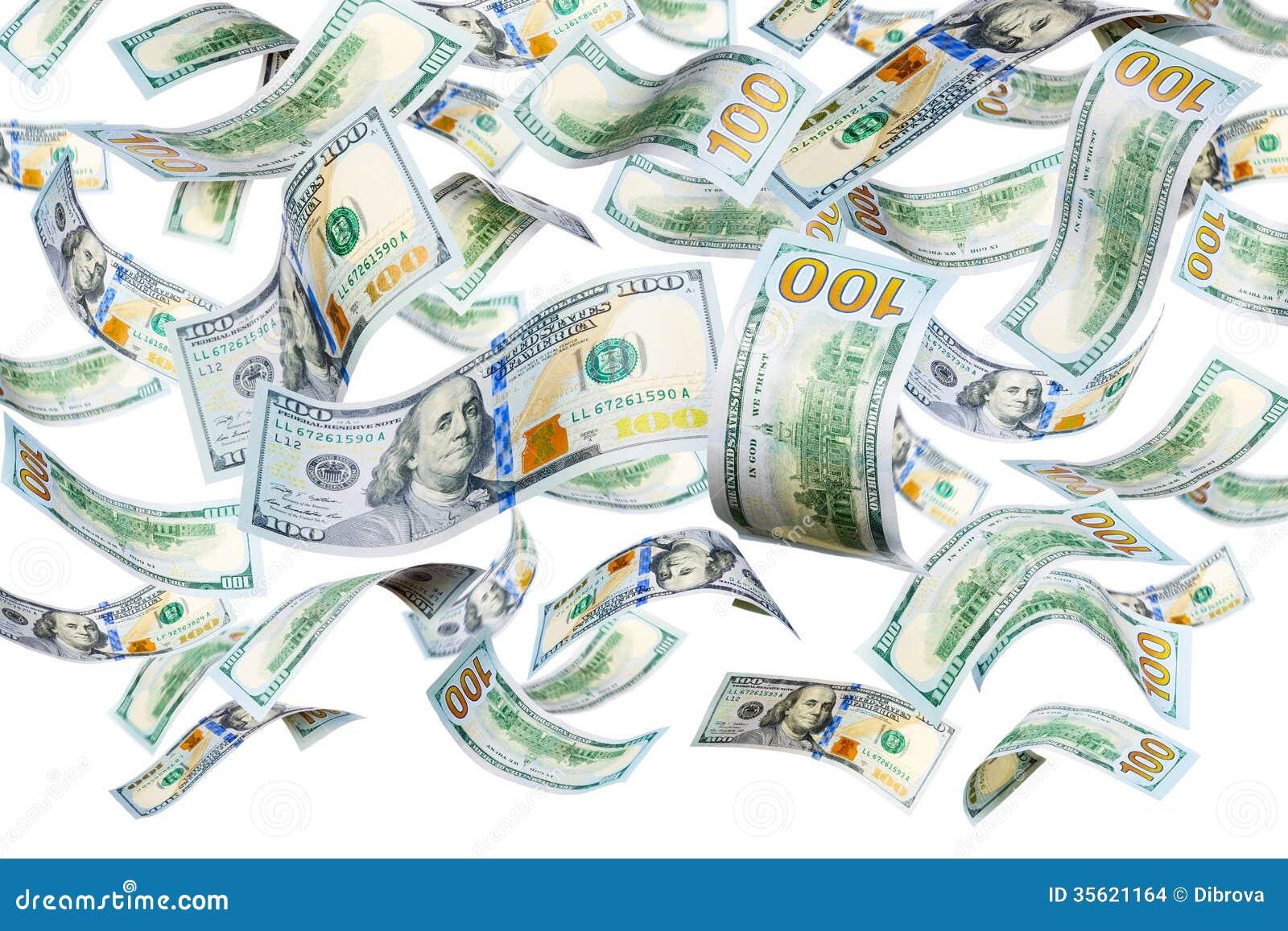 dollar bills falling on - photo #16