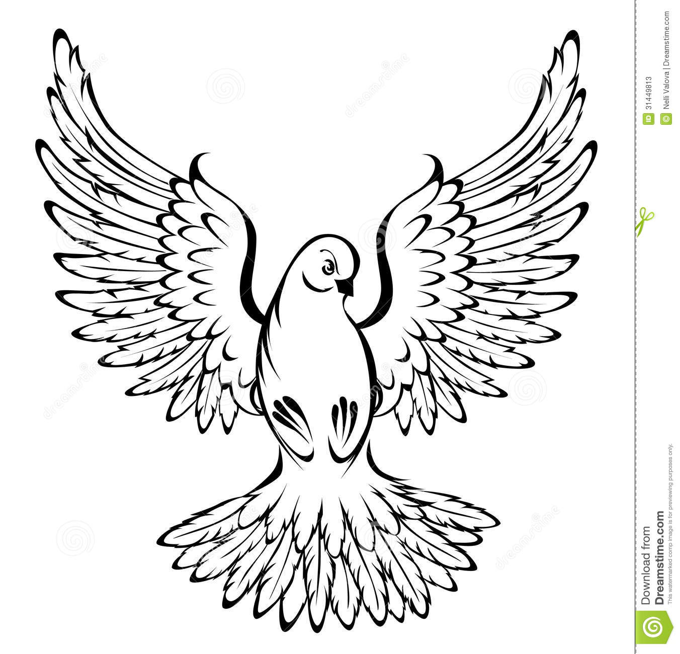 Flying Dove Stock Vector Illustration Of Isolated Creative