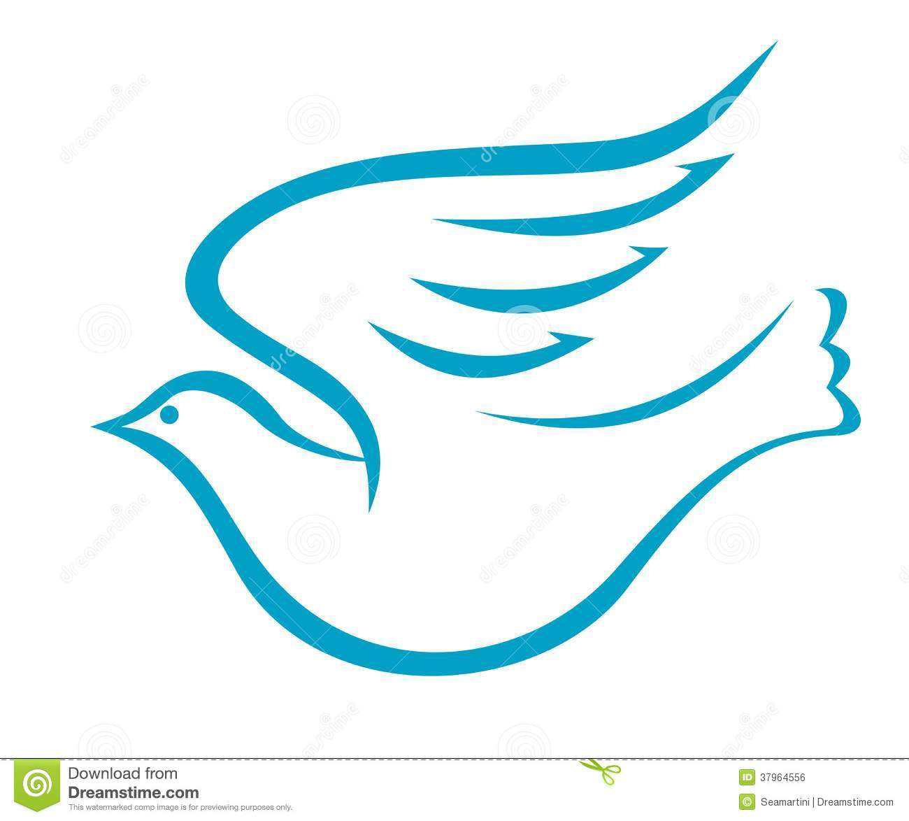Flying Dove Or Bird Of Peace Stock Vector - Illustration Of Peace Faith 37964556