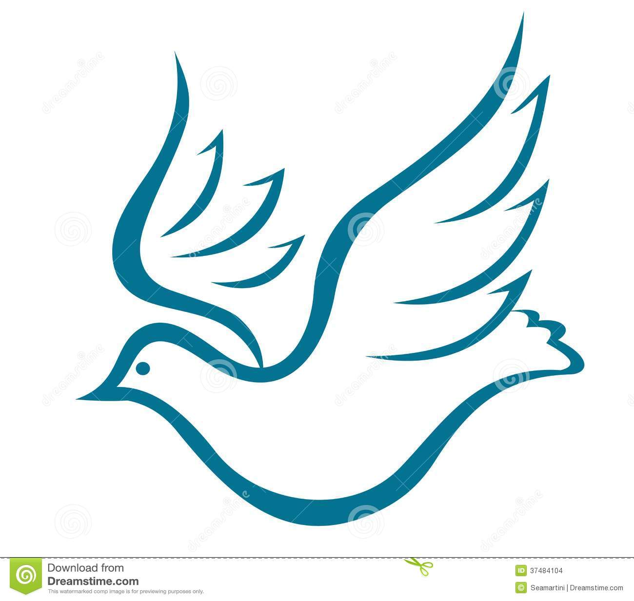 Flying dove of peace stock vector. Image of love, icon ...