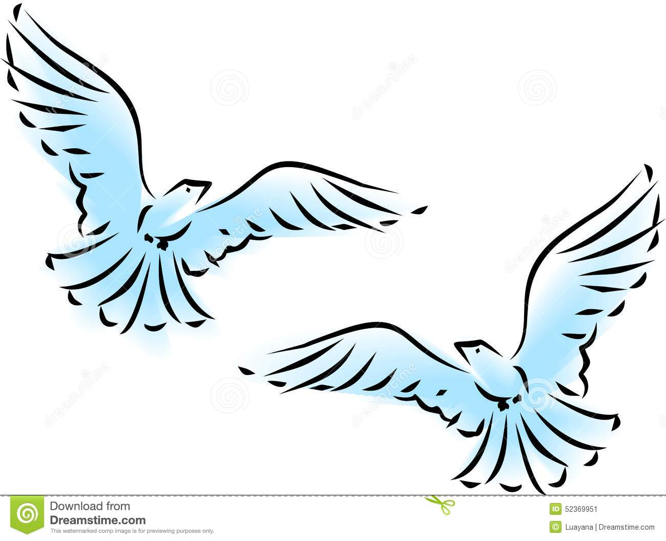 Flying Dove Stock Vector - Image: 52369951