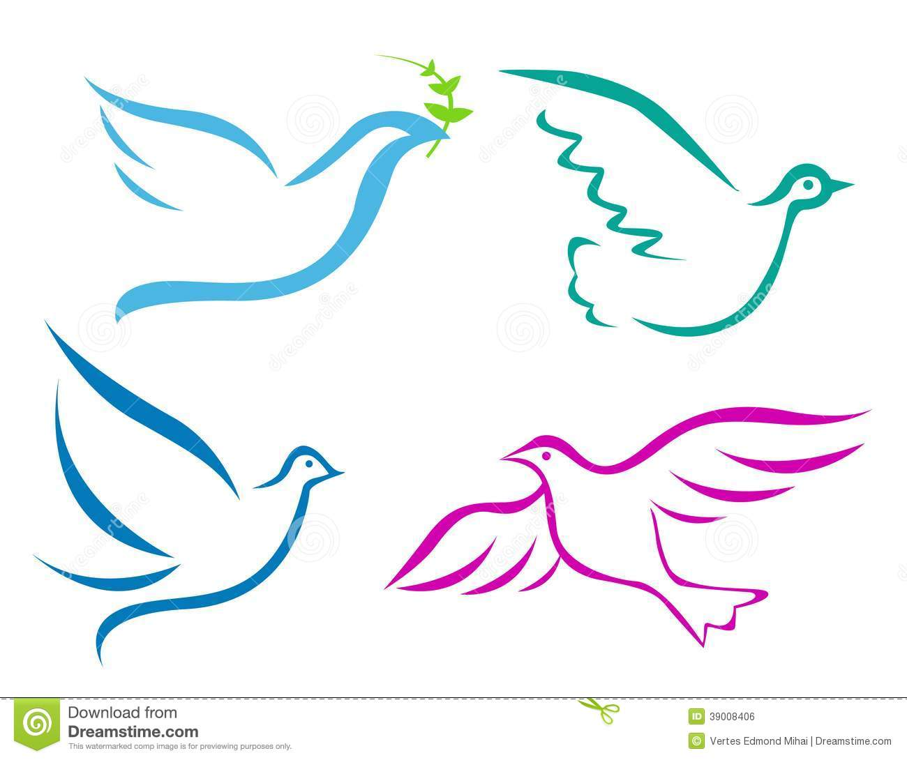 Flying Dove Stock Vector - Image: 39008406