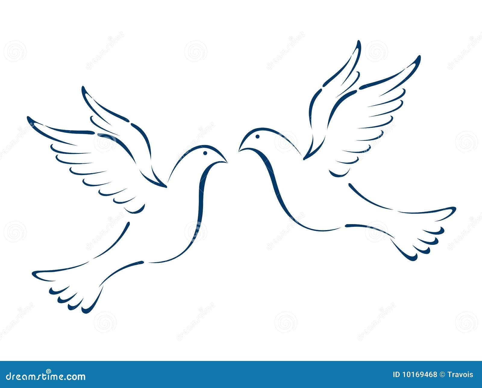 Flying doves stock vector illustration of wing pigeon 10169468 flying doves voltagebd Gallery