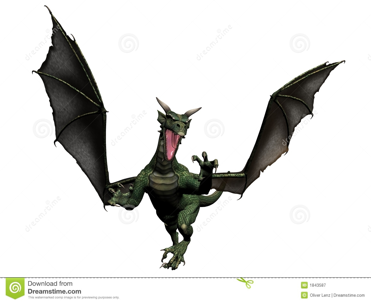 flying dragon royalty free stock photography image 1843587