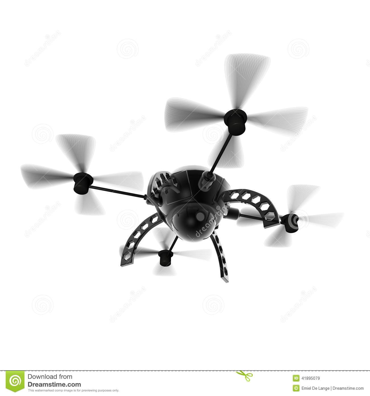 Flying Drone Camera Stock Illustration Image Of Rotating