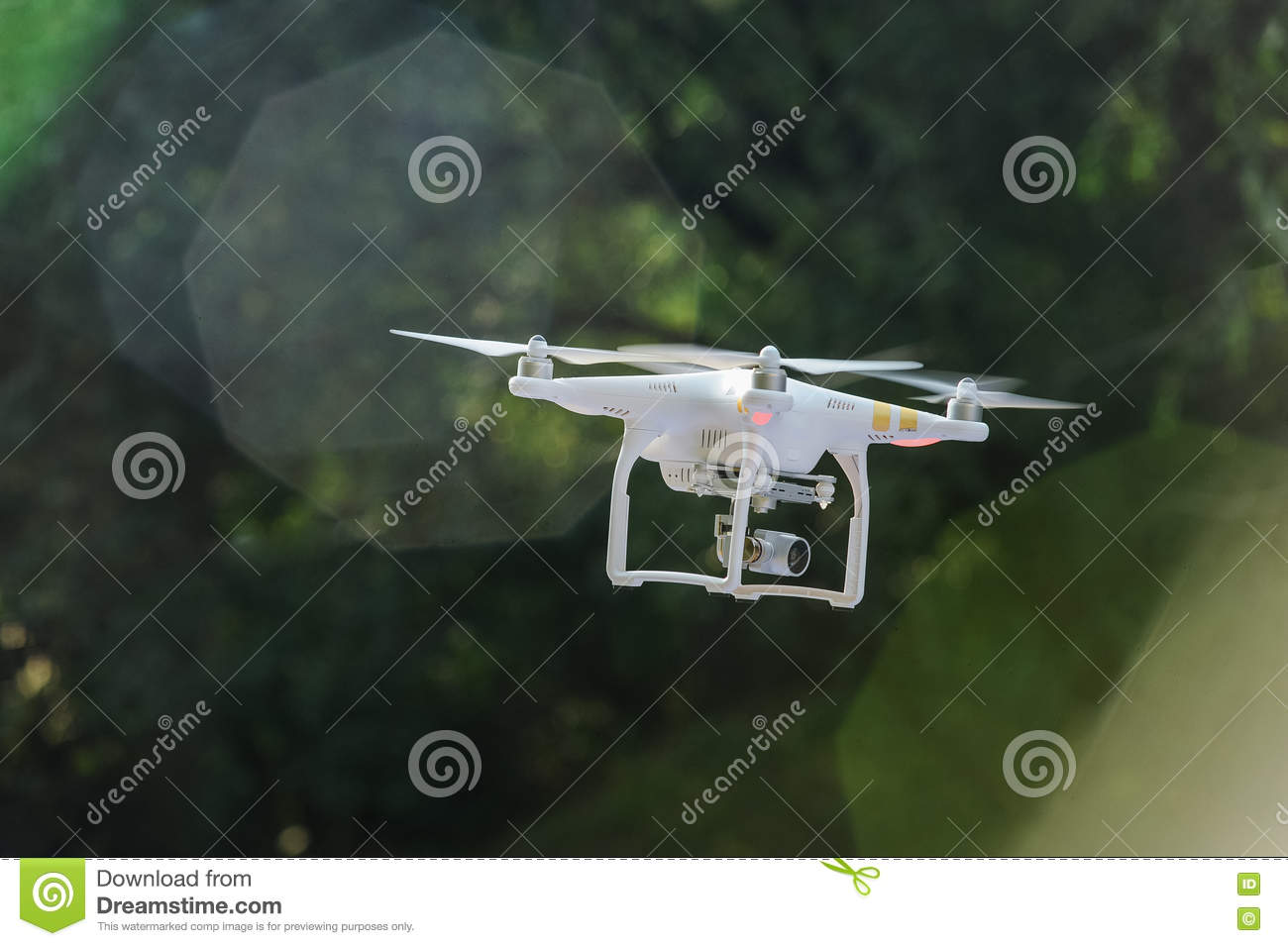 Flying drone with camera