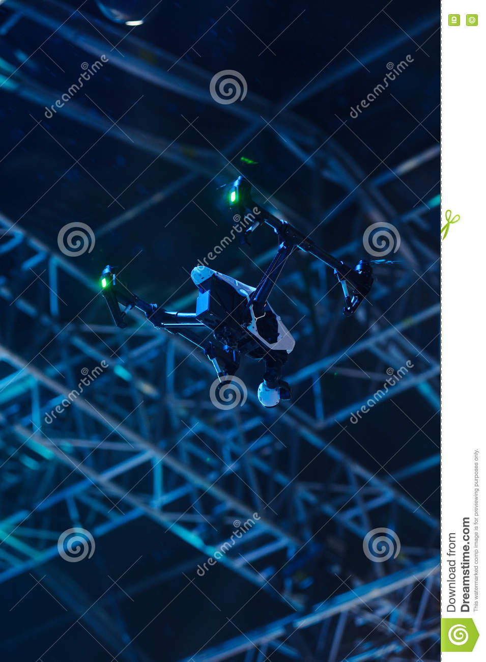 Flying drone with video camera