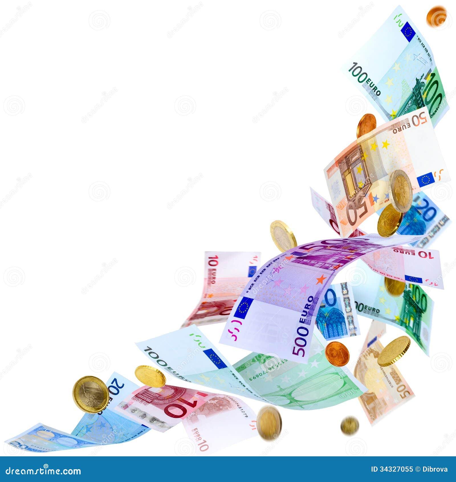 Money Falling Png Flying Euro Money Roya...