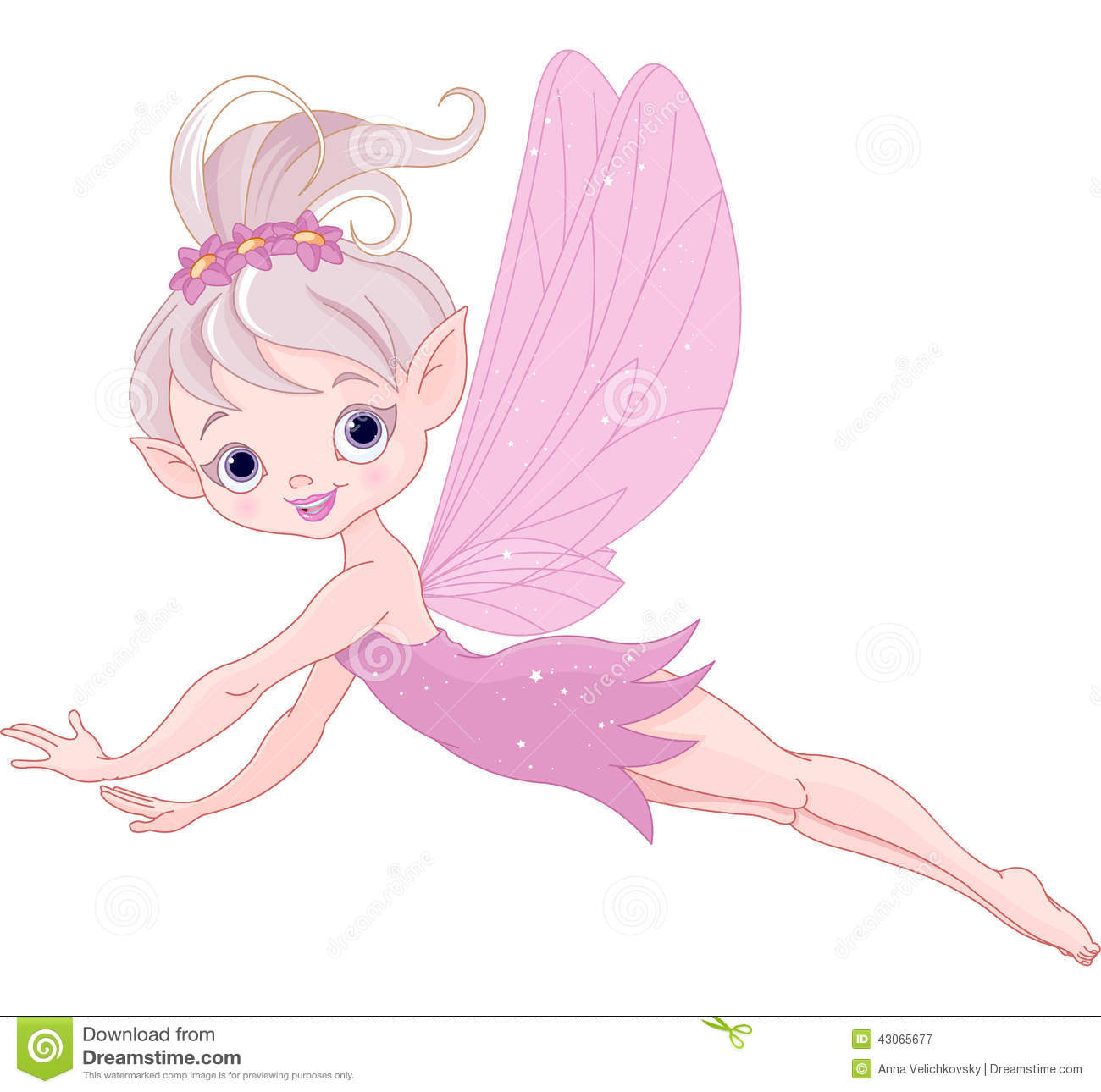 Flying Fairy Stock Vector - Image: 43065677