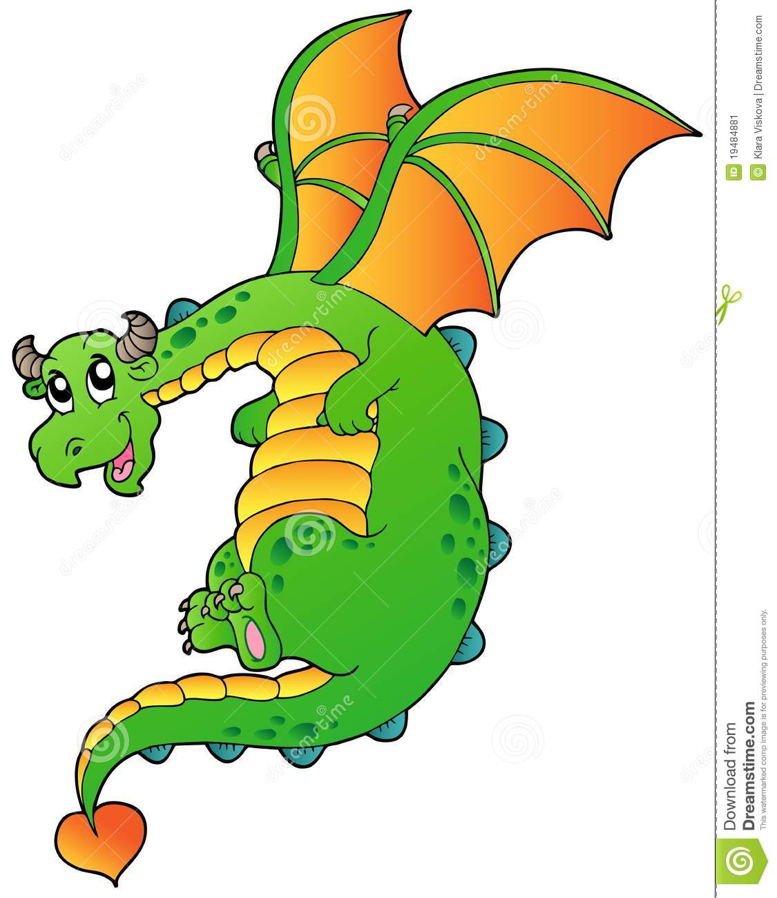 Flying Fairy Tale Dragon Stock Image Image 19484881