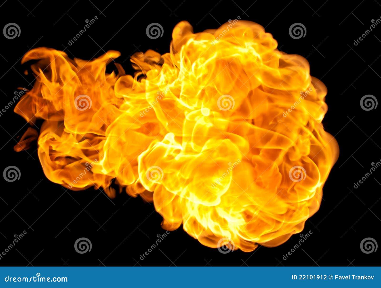 Flying fire ball