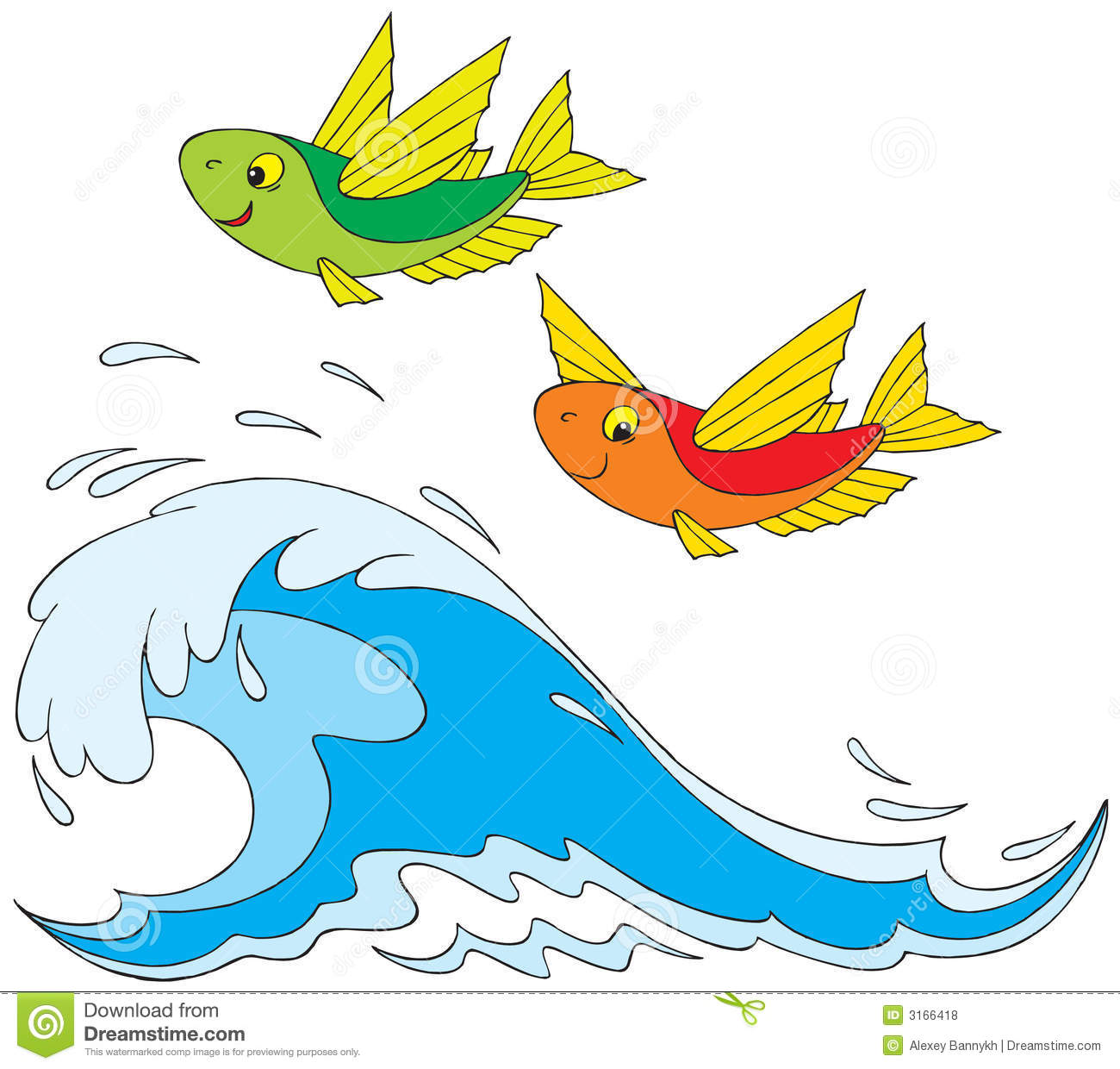 Flying fish clip art for Flying fish images
