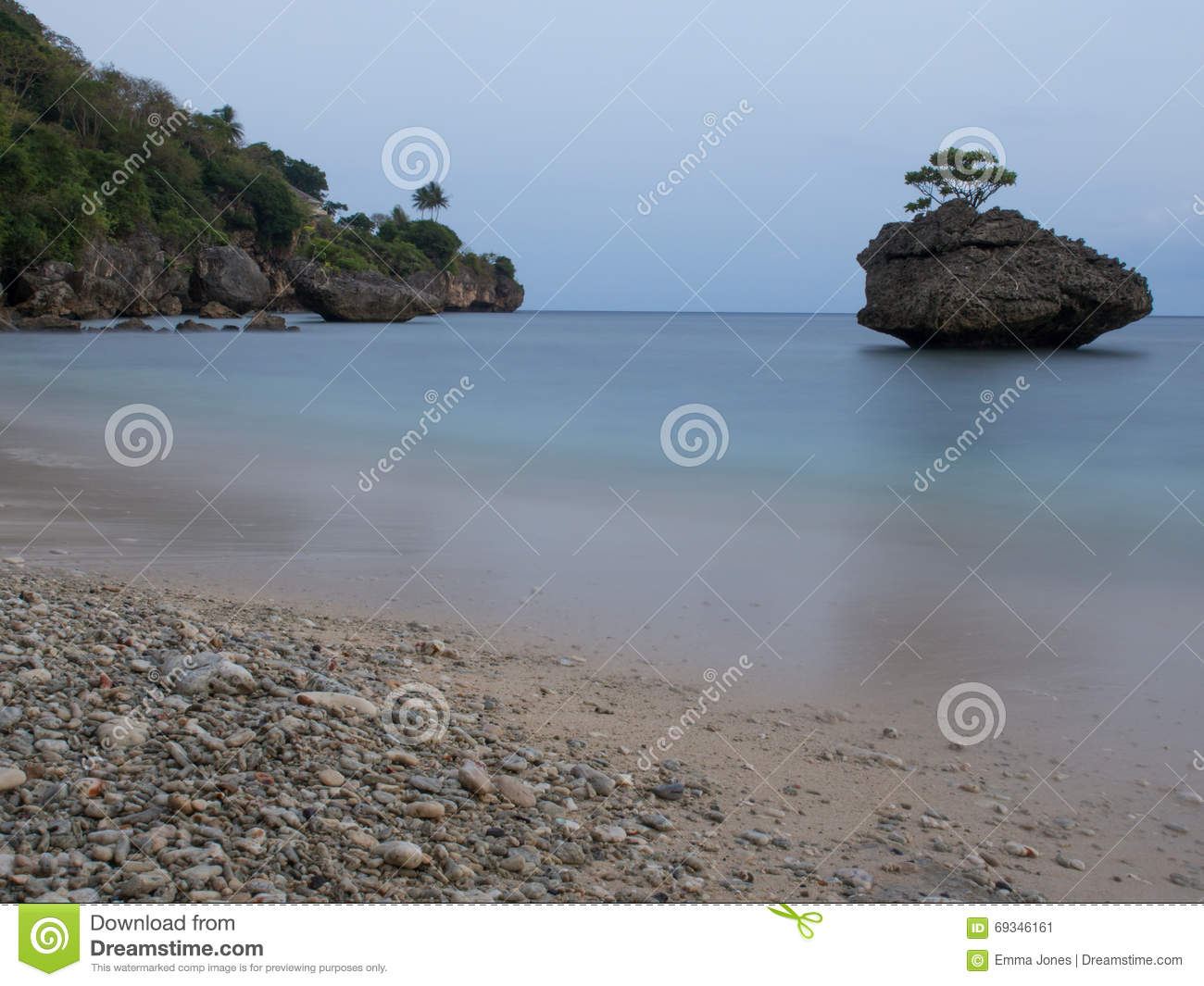 Christmas Island Australia.Flying Fish Cove Christmas Island Australia Stock Image