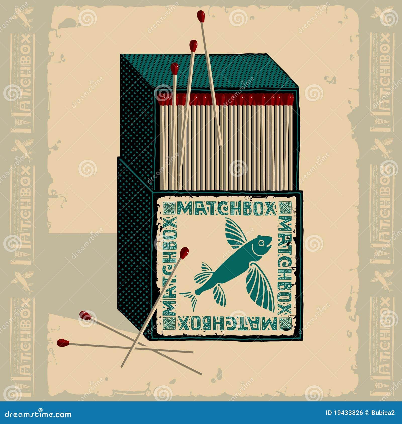 Flying fish isometric matchbox