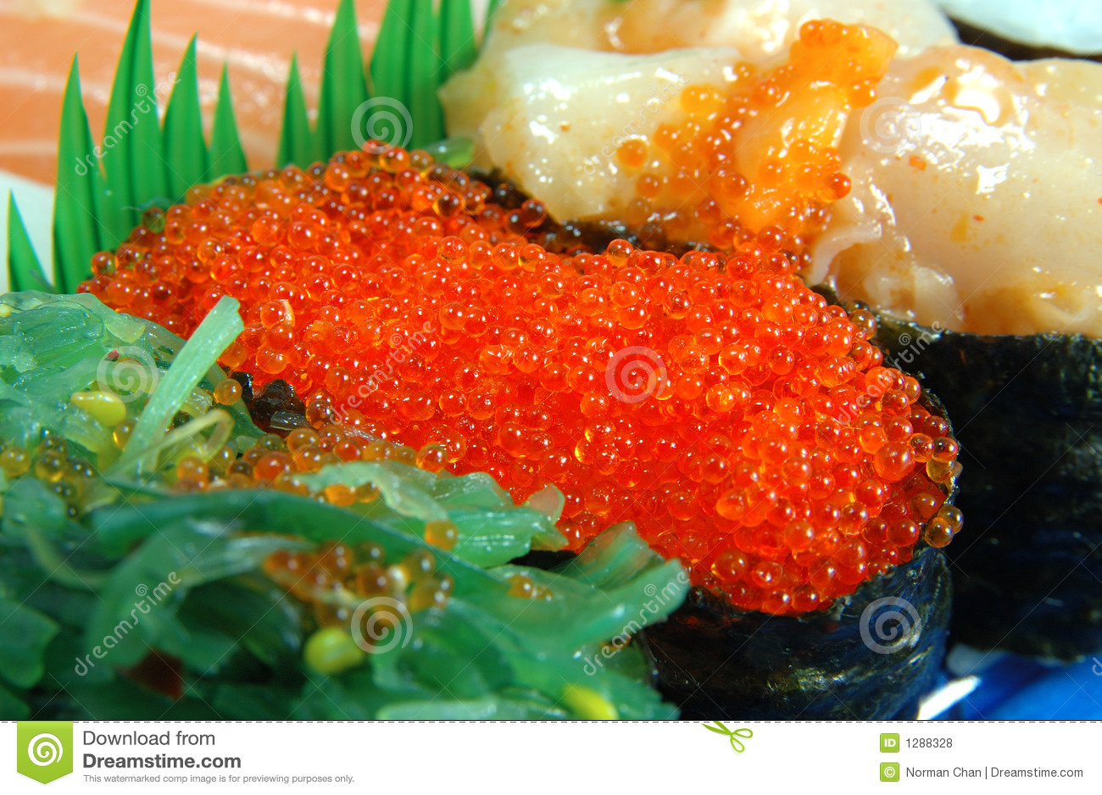 Flying fish roe sushi royalty free stock photos image for Flying fish roe