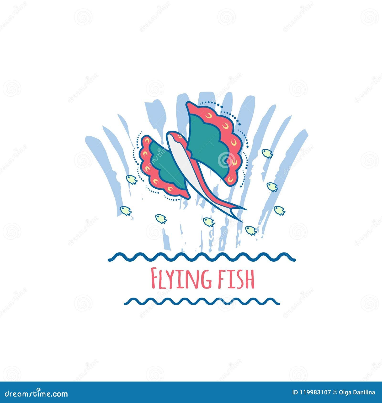 Flying Fish Vector Stock Vector Illustration Of Beautiful 119983107
