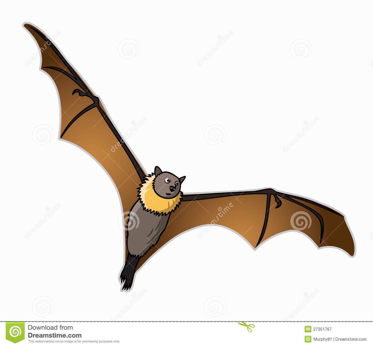 how to draw a flying fox