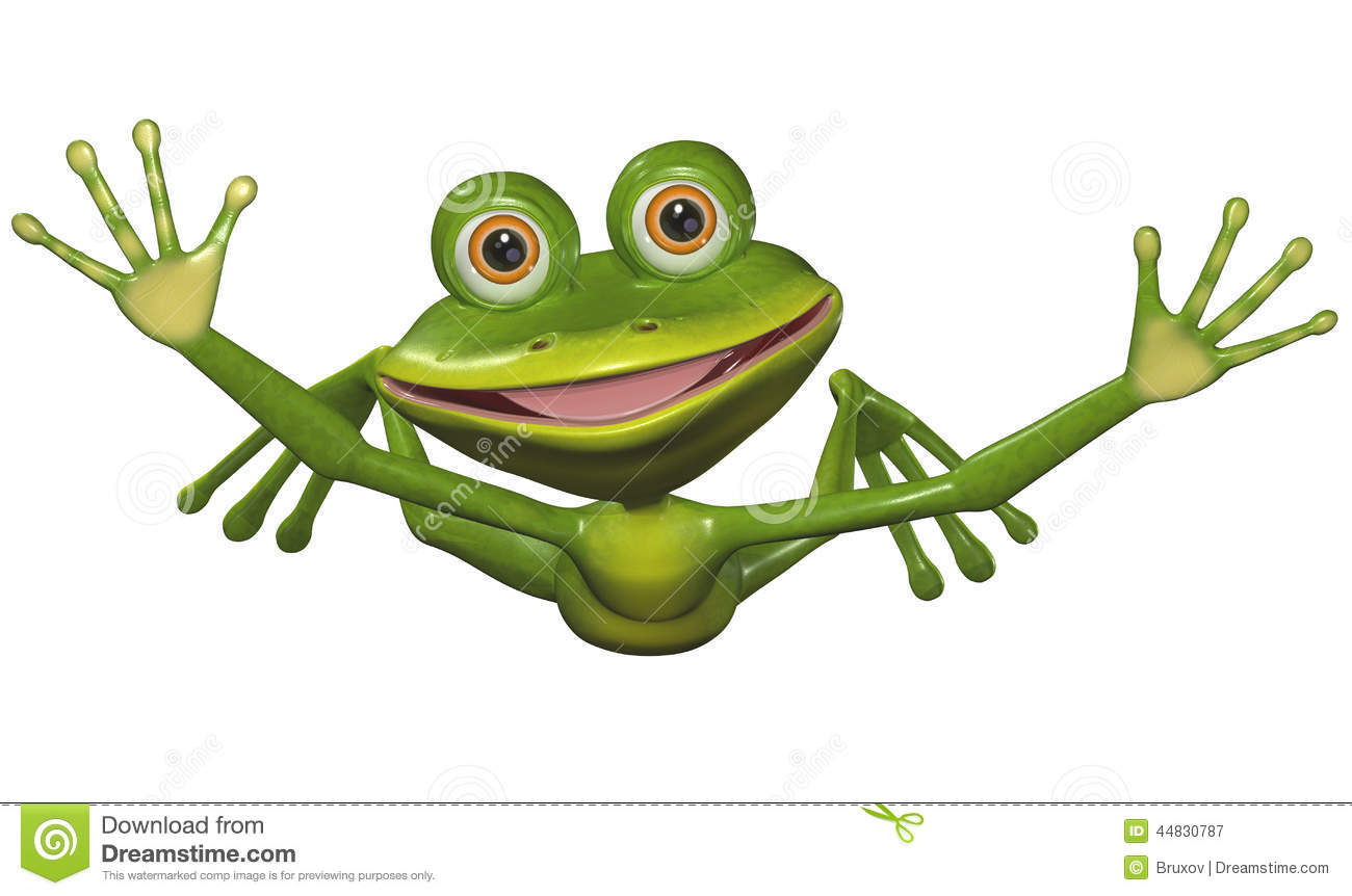 Flying Frog Stock Illustration - Image: 44830787
