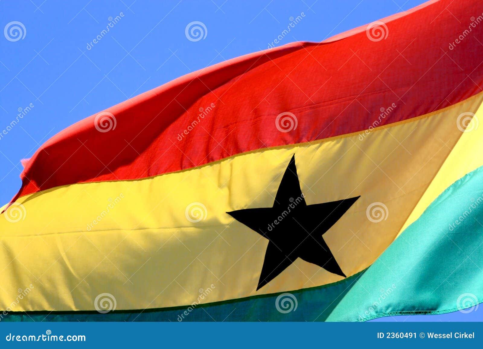 Flying Ghanese flag