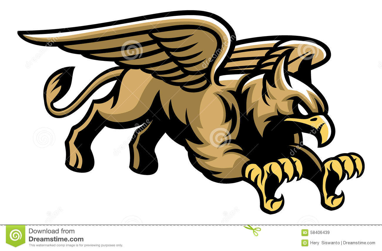Flying Griffin Mascot Stock Vector - Image: 58406439